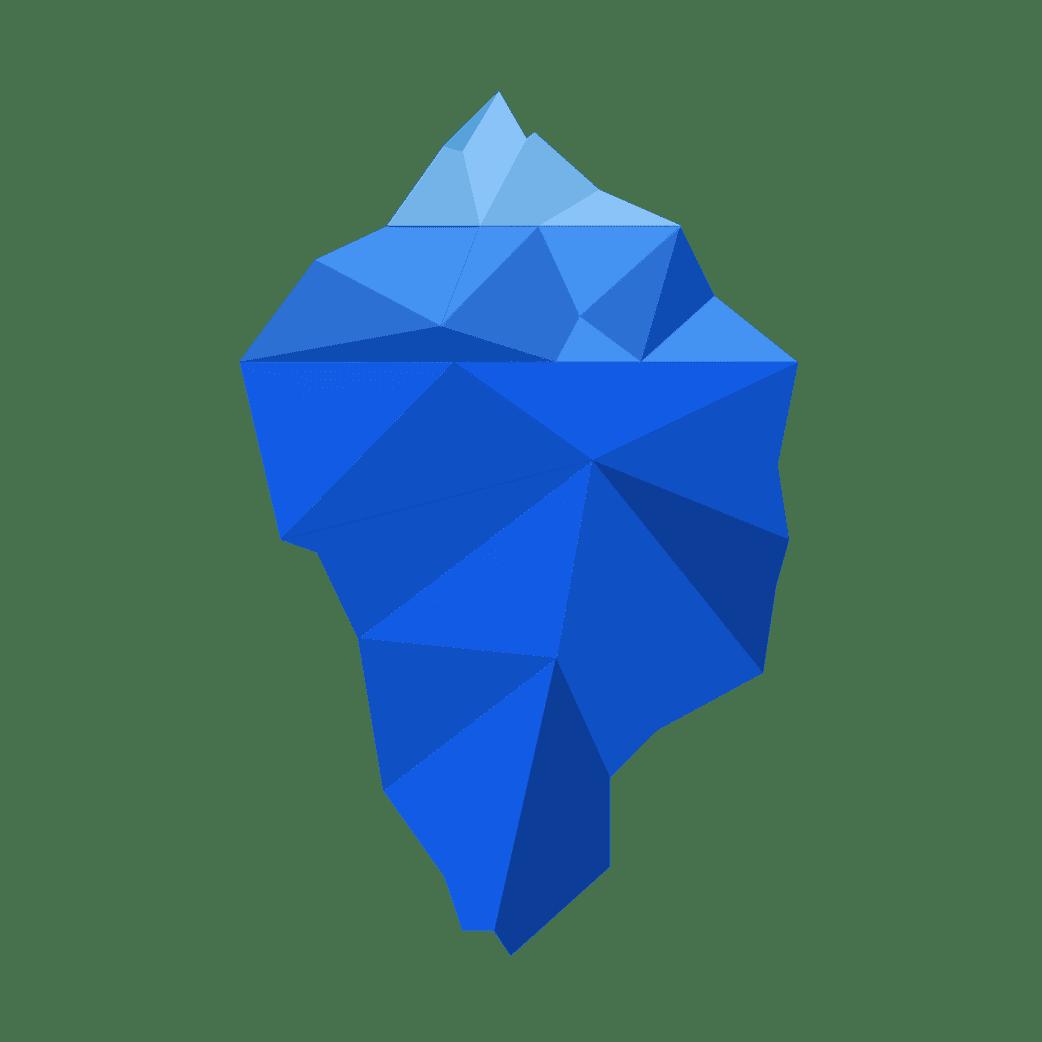 iceberg illsutration étape 1