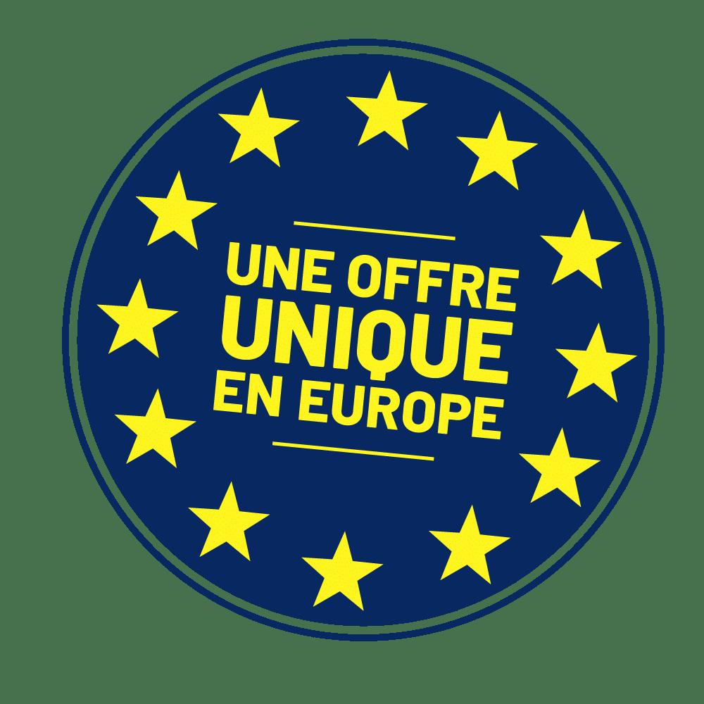 une offre unique en europe
