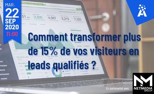 WEBINAR 22 septembre à 11h00 | eCommerce : comment transformer plus de 15% de vos visiteurs en leads qualifiés?