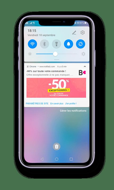 Web Push Notification - mobile blancheporte