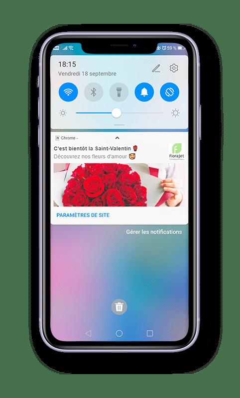 Web Push Notification - Mobile florajet