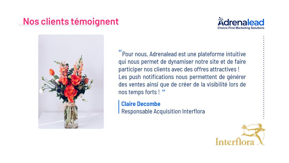 Retour d'experience Interflora Web Push Notifications