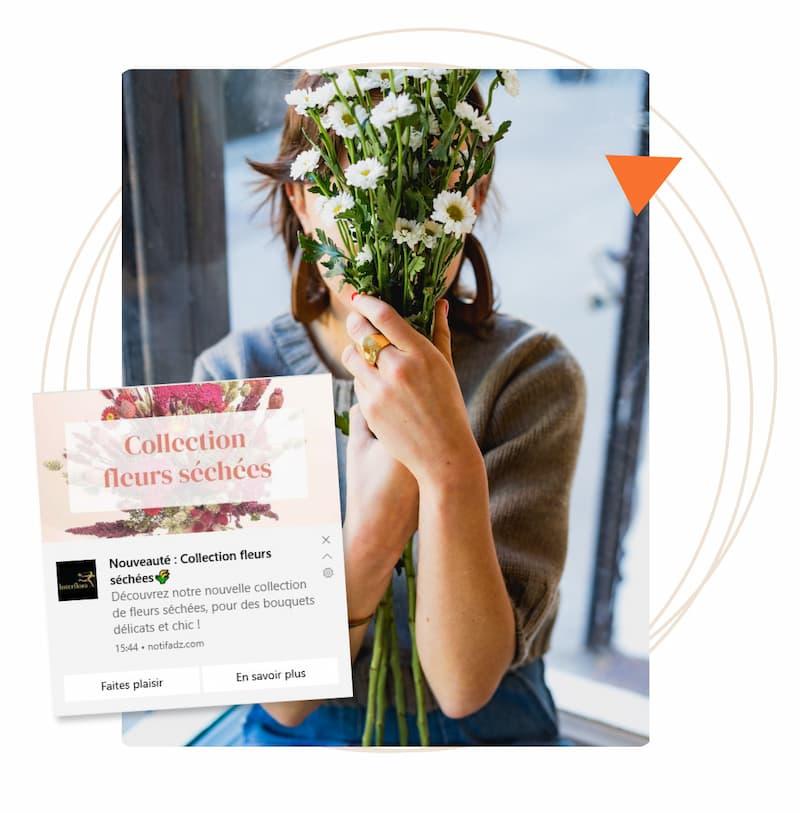 témoignage interflora web push notification desktop