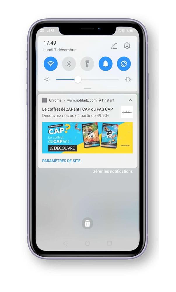 web push notification mobile wonderbox adrenalead