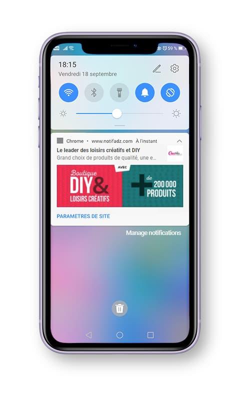 creavea Web Push Mobile