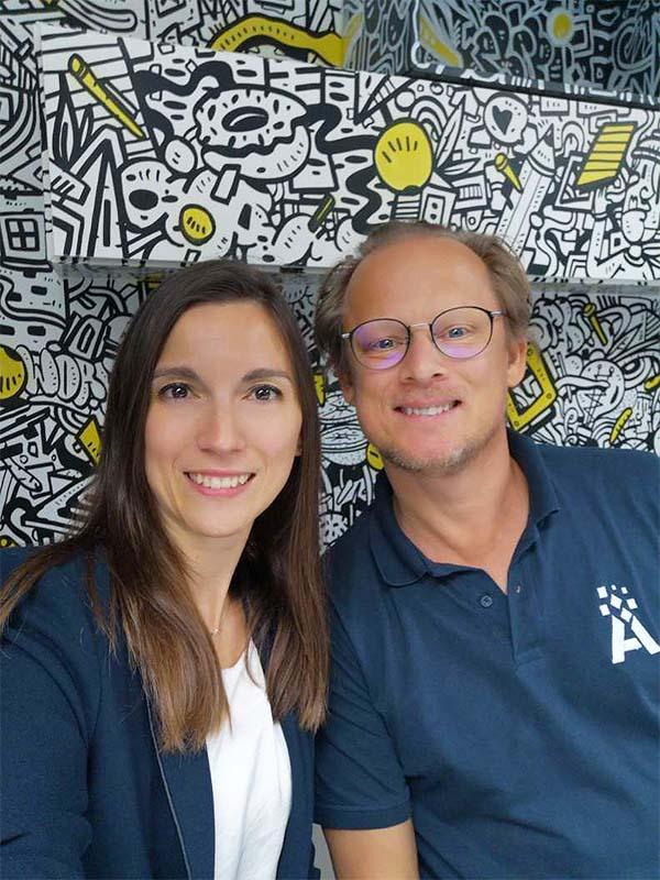Aurore et Edouard, co-fondateurs Adrenalead